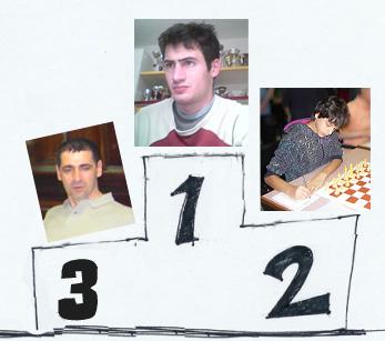 Leone Gennari (3°), Remo Padovan (1°) e Alessio Boraso (2°)