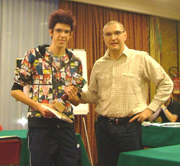 Daniele Zerilli, vincitore del torneo C