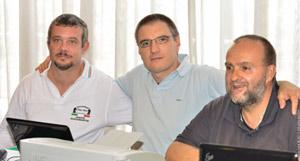 Carlo Callegher (a sinistra) e Mario Held (a destra) sono stati gli arbitri inappuntabili del torneo