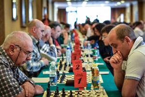 Simone Marangoni (a destra) vincitore del torneo B